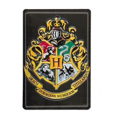 "Imagen de Placa Metálica 3D ""Hogwarts"" 20 x 30 cm - Harry Potter"