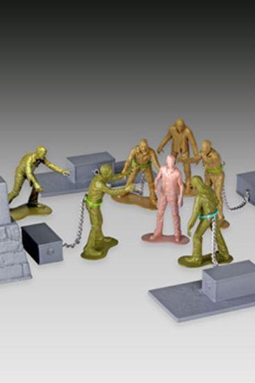 Foto de The Walking Dead Set Woodbury Arena Survivor con Minifiguras