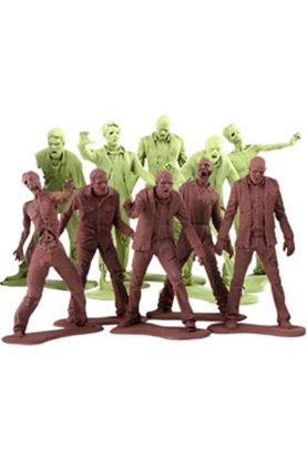 Picture of The Walking Dead Pack de 10 Minifiguras Army Men Zombies 5 cm