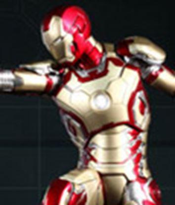 Picture of Iron Man 3 Figura Power Pose Series  Iron Man Mark XLII