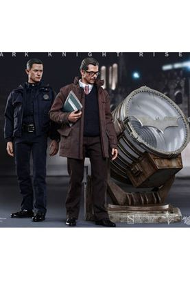 Picture of Dark Knight Rises Figuras John Blake & Jim Gordon with Bat-Signal