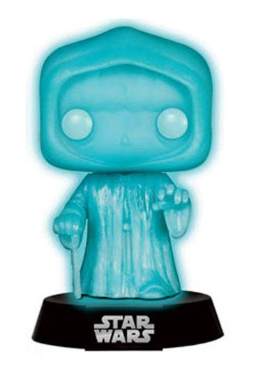 Foto de Star Wars Cabezón POP! Vinyl Holographic Emperor Glow-In-The-Dark 9 cm