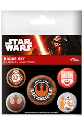 Picture of Star Wars Episode VII Pack 5 Chapas Resistance