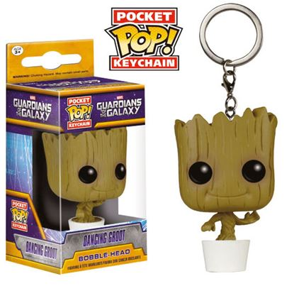 Picture of Guardianes de la Galaxia Llavero Pocket POP! Vinyl Dancing Groot 4 cm