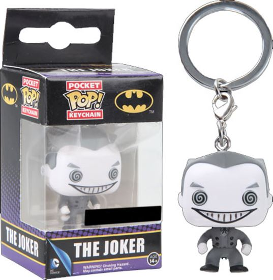 Picture of DC Comics Llavero Pocket POP! Vinyl Joker B&W 4 cm
