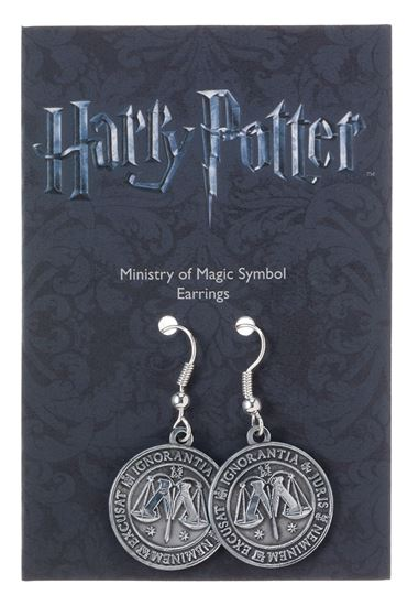 Picture of Harry Potter Pendientes Ministry of Magic (plateado)