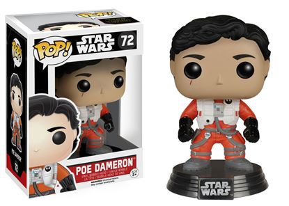 Picture of Star Wars Episode VII POP! Vinyl Cabezón Poe Dameron (No Helmet) 10 cm