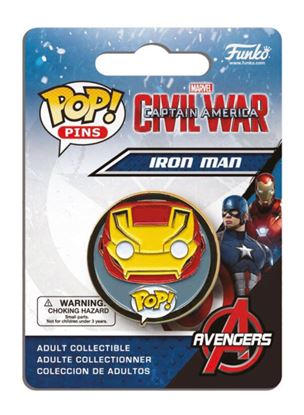 Picture of Captain America Civil War POP! Pins Chapa Iron Man