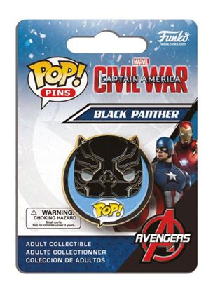 Imagen de Captain America Civil War POP! Pins Chapa Black Panther