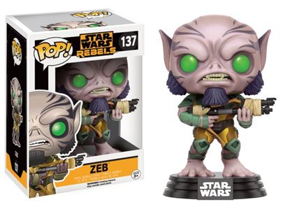 Picture of Star Wars Rebels POP! Vinyl Cabezón Zeb 9 cm