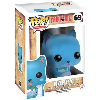 Picture of Fairy Tail POP! Animation Vinyl Figura Happy Flocked Limited 9 cm