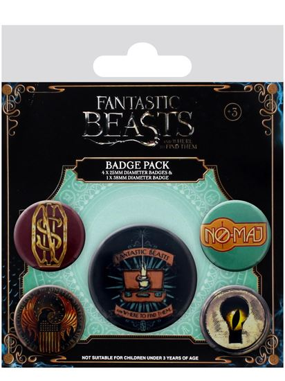 Foto de Fantastic Beasts Badge Pack