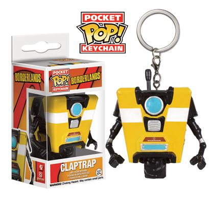 Picture of Borderlands Llavero Pocket POP! Vinyl Claptrap 4 cm