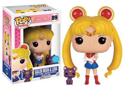 Picture of Pop! Anime: Sailor Moon - Sailor Moon & Luna Glitter LE