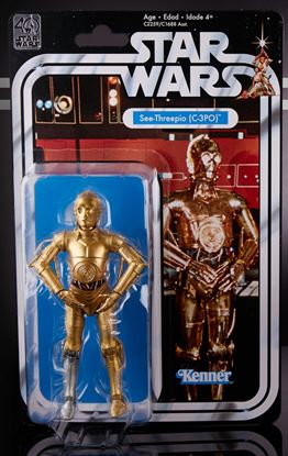 Imagen de Star Wars 40th Anniversary Black Series Figuras 15 cm C-3PO