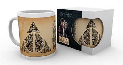 Picture of Harry Potter Taza Deathly Hallows Words