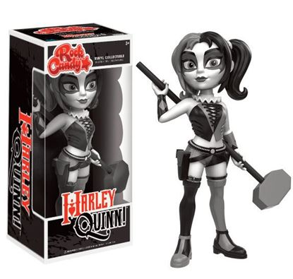 Picture of DC Comics Rock Candy Vinyl Figura Harley Quinn B&W Costume 13 cm