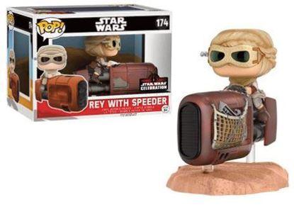 Picture of Star Wars Episode VII POP! Vinyl Cabezón Rey with Speeder 15 cm