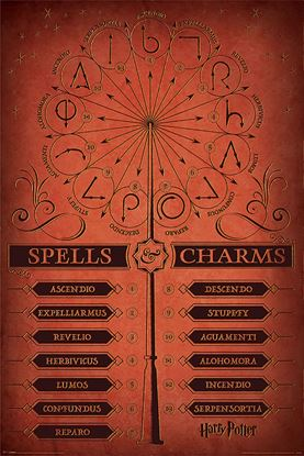 Imagen de Harry Potter Poster Spells and Charms