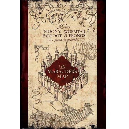 Picture of Póster Mapa del Merodeador - Harry Potter