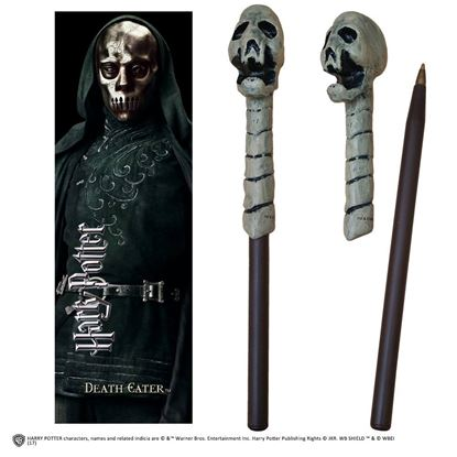 Picture of Bolígrafo Varita y Marcapáginas Mortífago Calavera - Harry Potter