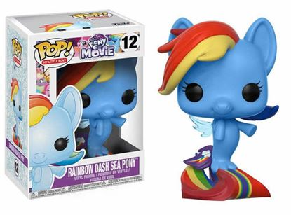 Picture of My Little Pony Movie POP! Movies Vinyl Figuren Rainbow Dash Sea Pony 9 cm