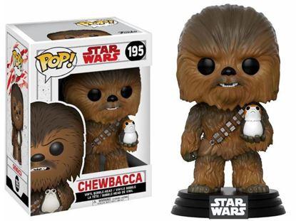 Picture of Star Wars Episode VIII POP! Vinyl Cabezón Chewbacca & Porg 9 cm