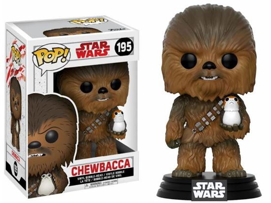 Picture of Star Wars Episode VIII POP! Vinyl Cabezón Chewbacca & Porg 9 cm
