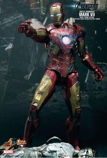 Picture of Los Vengadores Figura Iron Man MK VII Battle Damaged Movie Promo