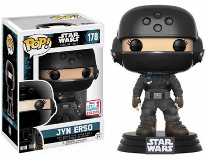 Picture of Star Wars Rogue One POP! Vinyl Cabezón Jyn Erso 2017 Fall Convention Exclusive 9 cm