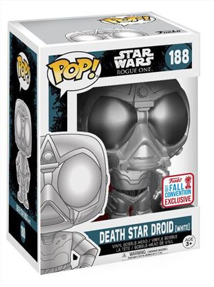 Picture of Star Wars Rogue One POP! Vinyl Cabezón Death Star Droid (White) 2017 Fall Con EX 9 cm