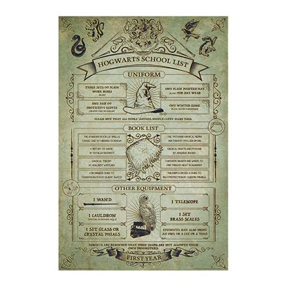 Picture of Harry Potter Poster Hogwarts Listado Equipamiento