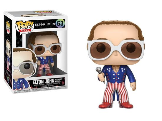 Picture of Elton John POP! Rocks Vinyl Figura Elton John Red, White & Blue 9 cm