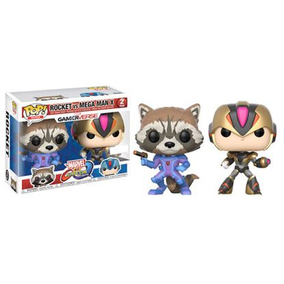 Picture of FIGURA POP PACK CAP VS MARV ROCKET VS MEGAMAN X
