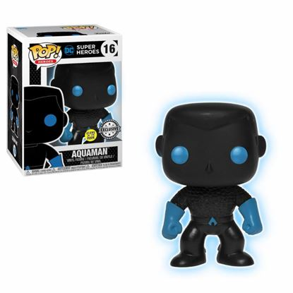 Picture of Justice League Movie POP! Movies Vinyl Figura Aquaman Silhouette GITD 9 cm