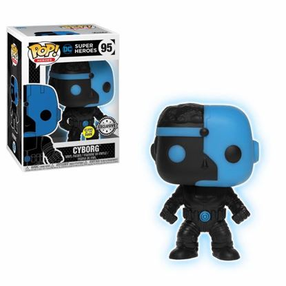 Picture of Justice League Movie POP! Movies Vinyl Figura Cyborg Silhouette GITD 9 cm