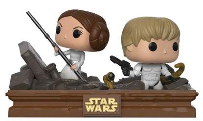 Picture of Star Wars Pack de 2 POP! Movie Moments Vinyl Cabezón Trash Compactor Escape 9 cm