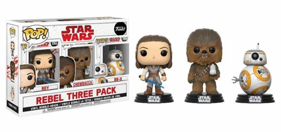 Picture of Star Wars Episode VIII Pack de 3 Figuras POP! Vinyl Rebel 9 cm
