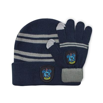 Picture of Harry Potter Set Beanie and Gloves for Kids Ravenclaw