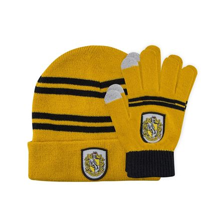 Picture of Harry Potter Set Beanie and Gloves for Kids Hufflepuf