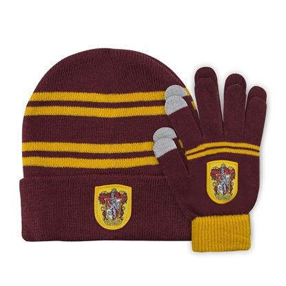 Picture of Harry Potter Set Beanie and Gloves for Kids Gryffindor