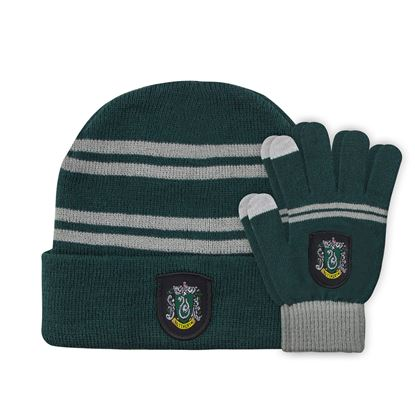 Picture of Harry Potter Set Beanie and Gloves for Kids Slytherin