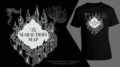 Picture of Harry Potter Camiseta Mapa Merodeador Unisex Talla M