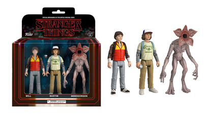 Picture of Stranger Things ReAction Pack de 3 Figuras Dustin, Will & Demogorgon 14 cm
