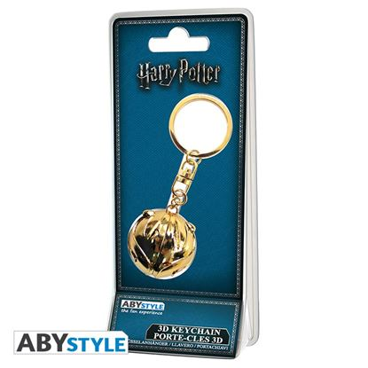 Imagen de Harry Potter Llavero Metálico Snitch Dorada