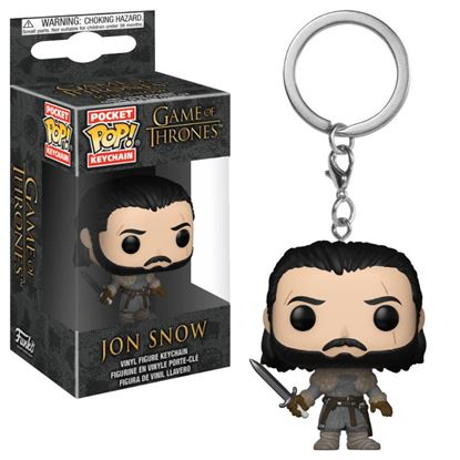 Picture of Juego de Tronos Llavero Pocket POP! Vinyl Jon Snow (Beyond the Wall) 4 cm.
