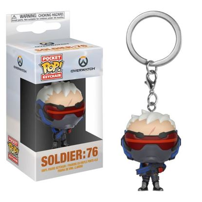 Picture of Overwatch Llavero Pocket POP! Vinyl Soldier: 76 4 cm DISPONIBLE APROX: DICIEMBRE 2018