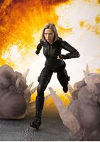 Picture of Vengadores Infinity War Figura S.H. Figuarts Black Widow & Tamashii Effect Explosion 15 cm