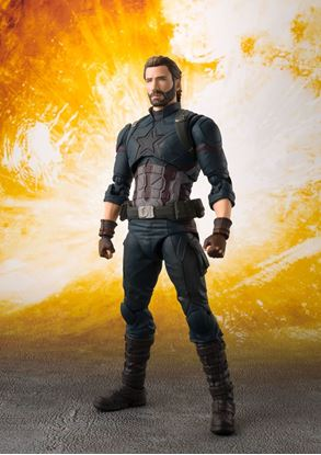 Picture of Vengadores Infinity War Figura S.H. Figuarts Captain America & Tamashii Effect Explosion 16 cm