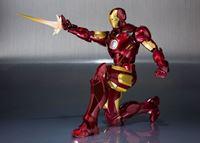 Picture of Iron Man 2 Figura S.H. Figuarts Iron Man Mark IV & Hall of Armor Set Tamashii Web EX 14 cm